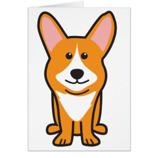 Dibujo animado del perro del Corgi Galés de la reb Tarjeta Pequeña