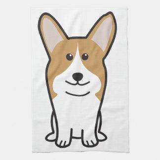 Dibujo animado del perro del Corgi Galés del Pembr Toalla