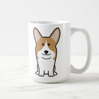 Dibujo animado del perro del Corgi Galés del Taza Clásica