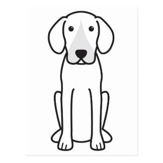 Dibujo animado del perro del corredor de cross postales