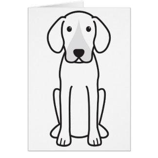 Dibujo animado del perro del corredor de cross tarjetas