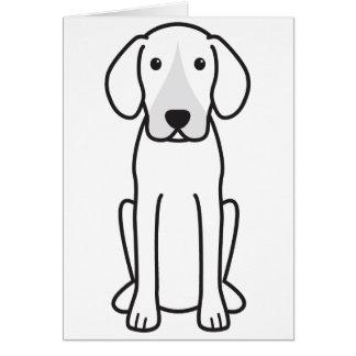 Dibujo animado del perro del corredor de cross tarjeta de felicitación