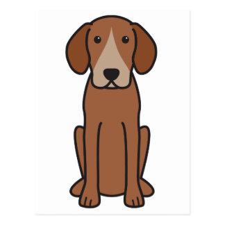 Dibujo animado del perro del corredor de cross tarjetas postales