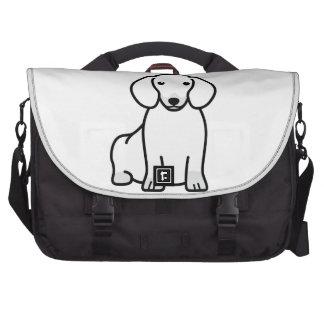 Dibujo animado del perro del Dachshund Bolsas De Portátil