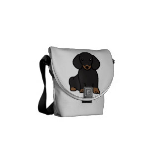 Dibujo animado del perro del Dachshund Bolsa De Mensajeria