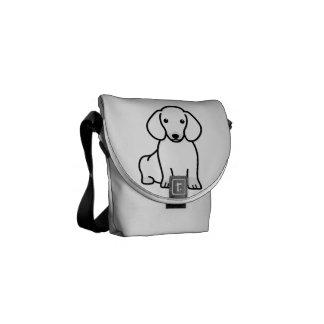 Dibujo animado del perro del Dachshund Bolsa De Mensajería