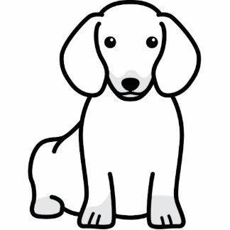 Dibujo animado del perro del Dachshund Fotoescultura Vertical
