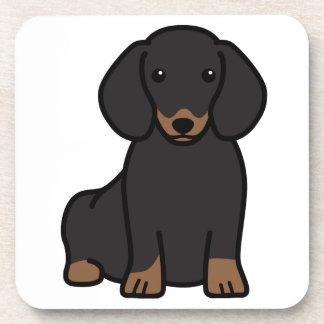 Dibujo animado del perro del Dachshund Posavasos De Bebidas