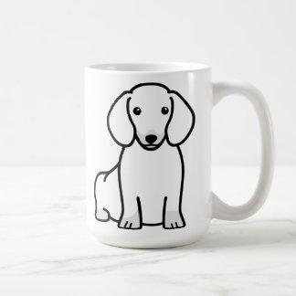 Dibujo animado del perro del Dachshund Taza Básica Blanca