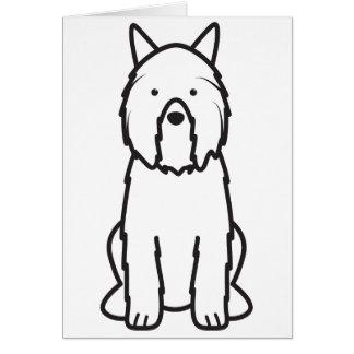 Dibujo animado del perro del DES Flandres de Bouvi Tarjeta De Felicitación