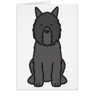 Dibujo animado del perro del DES Flandres de Bouvi Tarjeta Pequeña