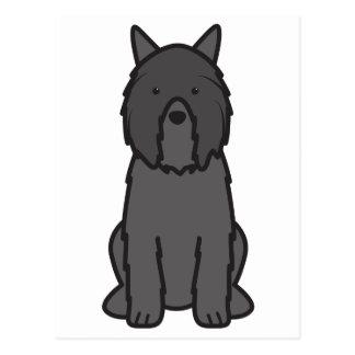 Dibujo animado del perro del DES Flandres de Bouvi Tarjetas Postales