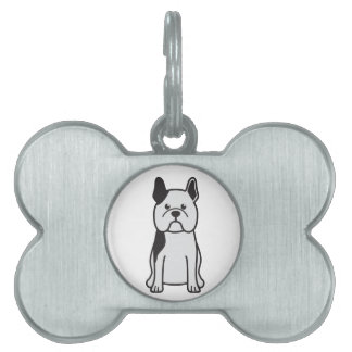 Dibujo animado del perro del dogo francés placas mascota