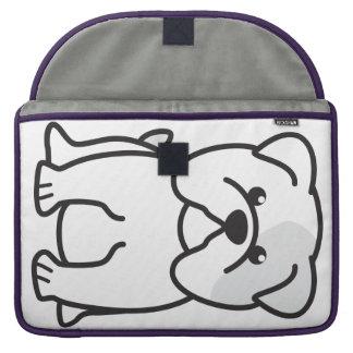 Dibujo animado del perro del dogo funda macbook pro