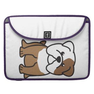 Dibujo animado del perro del dogo fundas para macbook pro
