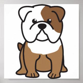 Dibujo animado del perro del dogo póster