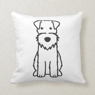 Dibujo animado del perro del fox terrier del alamb almohada