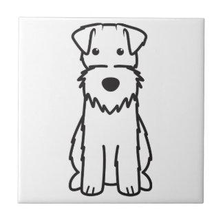 Dibujo animado del perro del fox terrier del alamb azulejo cerámica