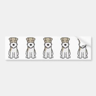 Dibujo animado del perro del fox terrier del alamb etiqueta de parachoque