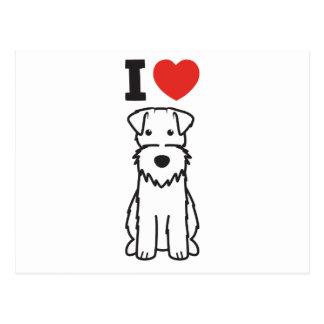 Dibujo animado del perro del fox terrier del alamb postal