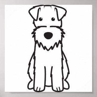 Dibujo animado del perro del fox terrier del alamb póster
