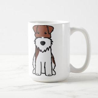 Dibujo animado del perro del fox terrier del alamb taza básica blanca