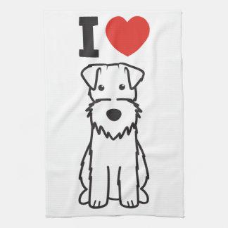 Dibujo animado del perro del fox terrier del alamb toalla de cocina