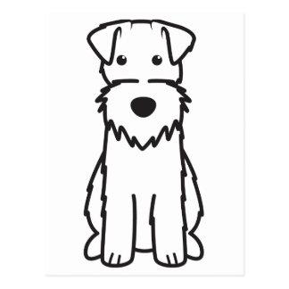 Dibujo animado del perro del fox terrier del postal