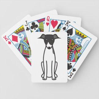 Dibujo animado del perro del galgo italiano barajas