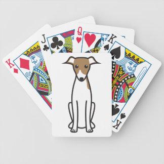 Dibujo animado del perro del galgo italiano baraja de cartas