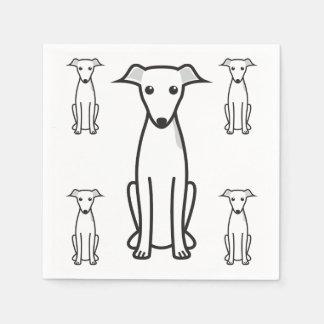 Dibujo animado del perro del galgo italiano servilleta de papel
