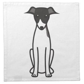 Dibujo animado del perro del galgo italiano servilletas