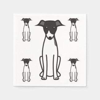 Dibujo animado del perro del galgo italiano servilletas de papel