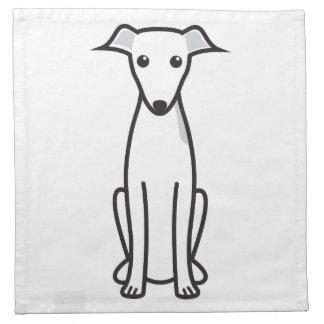 Dibujo animado del perro del galgo italiano servilletas imprimidas