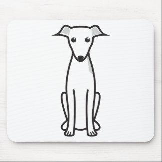 Dibujo animado del perro del galgo italiano tapete de raton