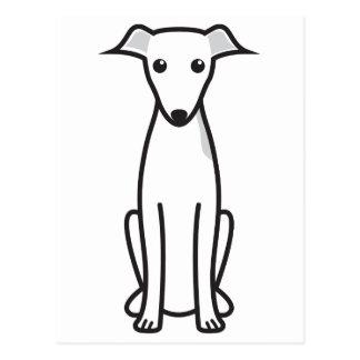 Dibujo animado del perro del galgo italiano tarjeta postal