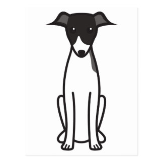 Dibujo animado del perro del galgo italiano postales