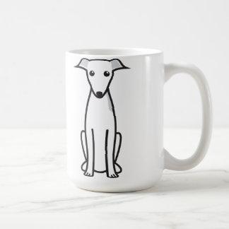 Dibujo animado del perro del galgo italiano tazas de café