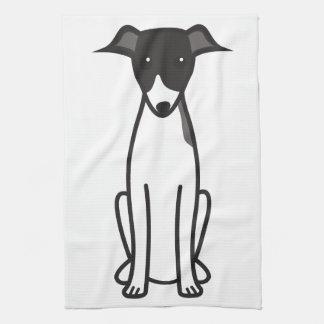 Dibujo animado del perro del galgo italiano toalla