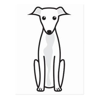 Dibujo animado del perro del galgo tarjeta postal