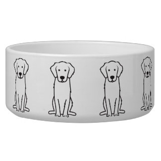 Dibujo animado del perro del golden retriever bol para perro