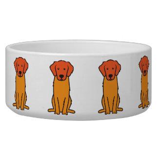 Dibujo animado del perro del golden retriever tazones para perrros