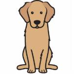 Dibujo animado del perro del golden retriever esculturas fotograficas
