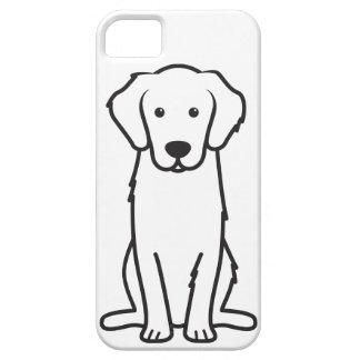 Dibujo animado del perro del golden retriever iPhone 5 Case-Mate cobertura