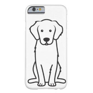 Dibujo animado del perro del golden retriever funda de iPhone 6 barely there