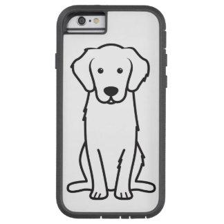 Dibujo animado del perro del golden retriever funda de iPhone 6 tough xtreme