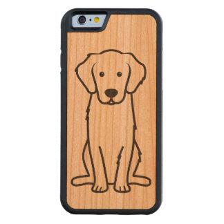 Dibujo animado del perro del golden retriever funda de iPhone 6 bumper cerezo