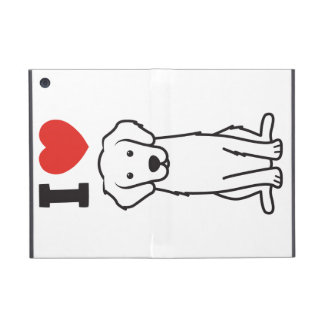 Dibujo animado del perro del golden retriever iPad mini cárcasas