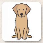 Dibujo animado del perro del golden retriever posavasos