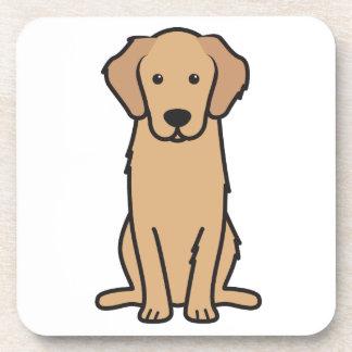 Dibujo animado del perro del golden retriever posavasos de bebidas